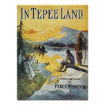 In Tepee Land Vintage Songbook Cover Print
