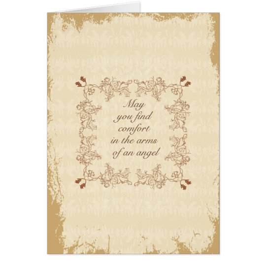 In the arms of an Angel - Sympathy card