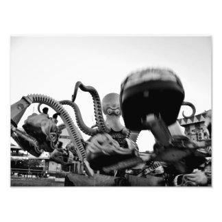 In the arms of the evil Octopus Photographic Print