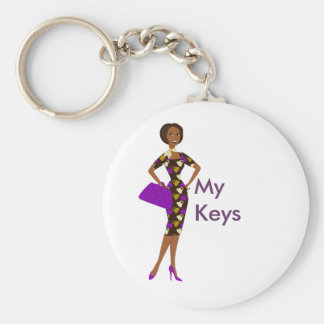In the Bag Basic Round Button Key Ring