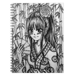 In the Bambushain Manga girl Spiral Notebook