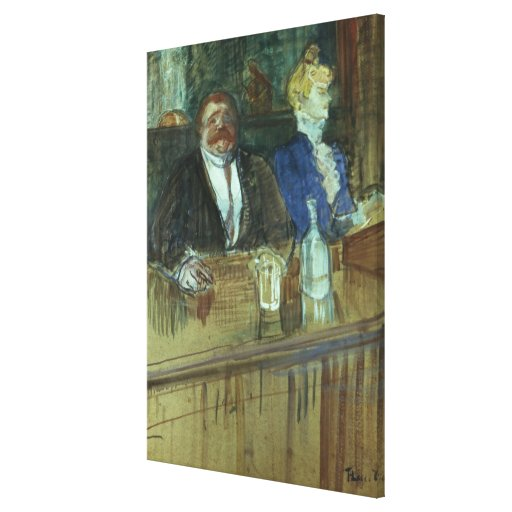 In the Bar: The Fat Proprietor Gallery Wrapped Canvas