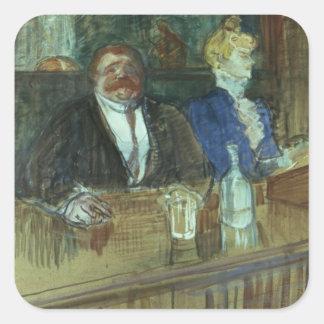 In the Bar: The Fat Proprietor Square Sticker