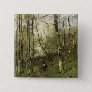 In the Barbizon Woods in 1875 15 Cm Square Badge