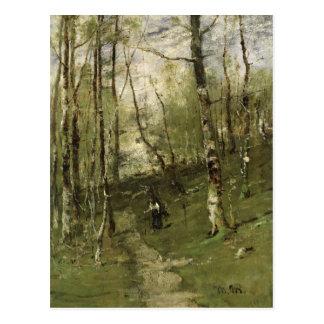 In the Barbizon Woods in 1875 Postcard