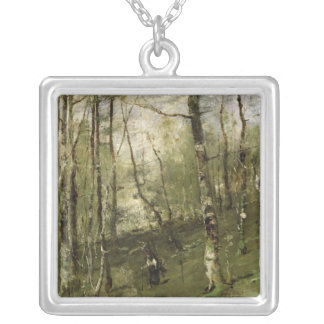 In the Barbizon Woods in 1875 Silver Plated Necklace