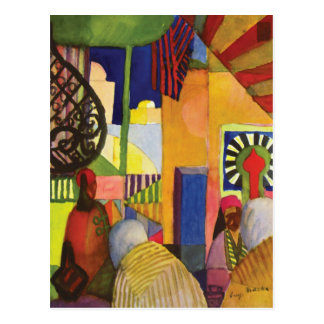 In the Bazaar by August Macke Postcard