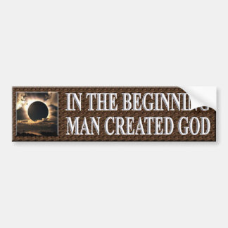 IN THE BEGINNING BUMPER STICKERS
