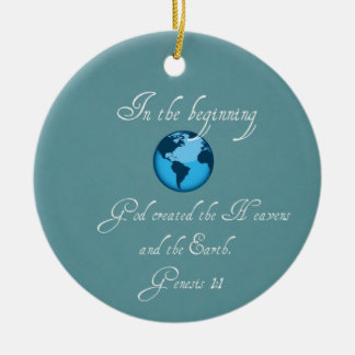 In the beginning... christmas ornament