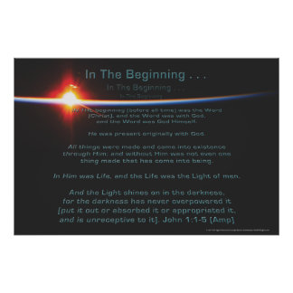 In The Beginning Poster by Joseph James Hartmann
