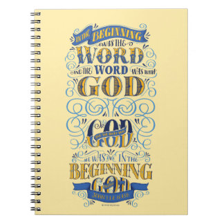 In the Beginning Was the Word Spiral Notebooks