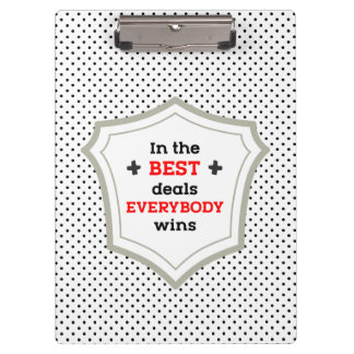 In the Best Deals Everybody Wins Clipboard