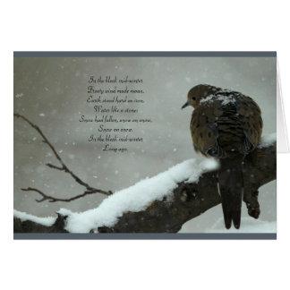 In the bleak mid-winter Christmas card