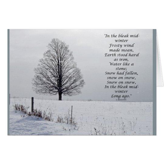 In the Bleak mid winter Christmas Card