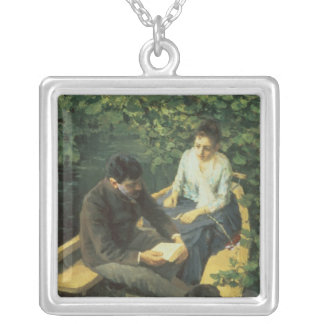 In the Boat, 1888 Silver Plated Necklace
