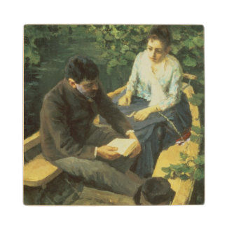 In the Boat, 1888 Wood Coaster