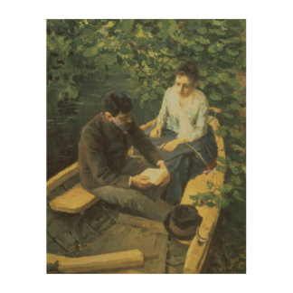 In the Boat, 1888 Wood Wall Decor