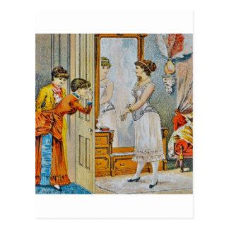 In the boudoir postcard