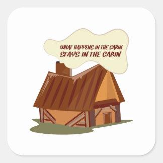 In The Cabin Sticker