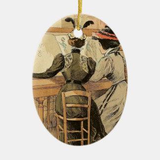 In the Cabinet des Estampes Ceramic Oval Decoration