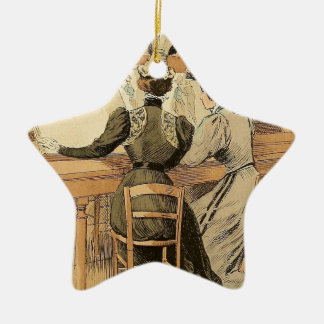 In the Cabinet des Estampes Christmas Ornament