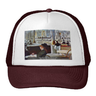 In The Café By Manet Edouard Trucker Hat