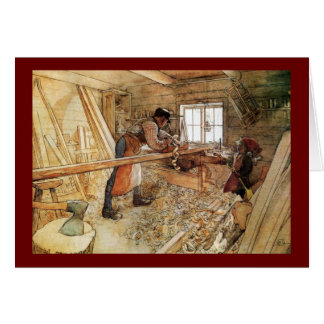 In the Carpenter Shop Card