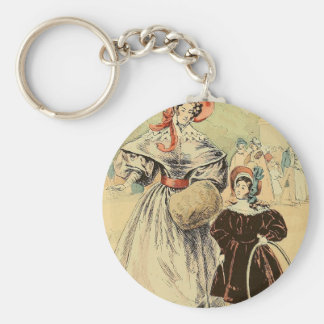 In the Champs-Élysées 1832 Basic Round Button Key Ring