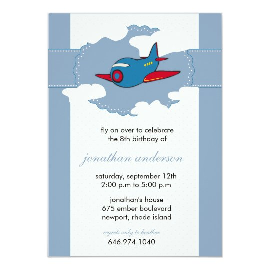 In the clouds -aeroplane birthday invitations - 6