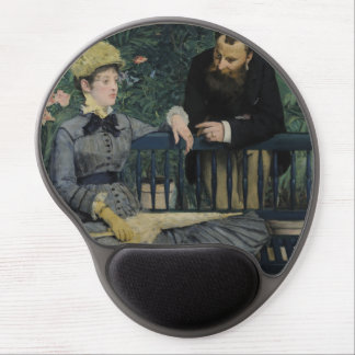 In the Conservatory by Edouard Manet Gel Mousepad