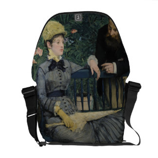 In the Conservatory by Edouard Manet Messenger Bags