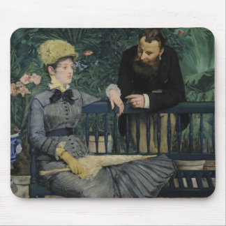 In the Conservatory by Edouard Manet Mousepads