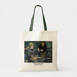 In the Conservatory-Edouard Manet Canvas Bags