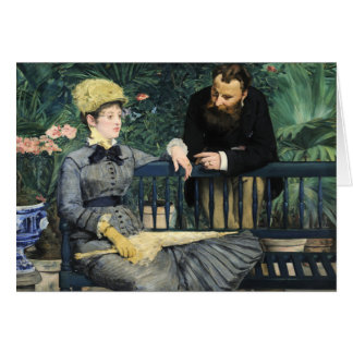 In the Conservatory, Édouard Manet Card