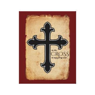 In the Cross Christian Faith Canvas Print