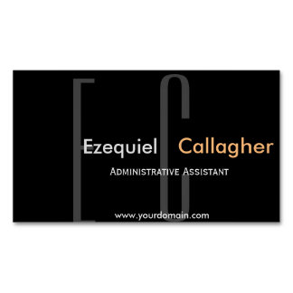 In the Dark no More. Simplistic Type Magnetic Business Cards