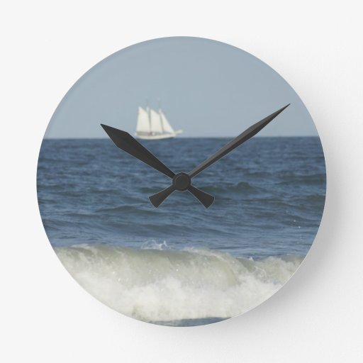 In the Distance Round Wall Clock