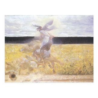 In the dust cloud by Jacek Malczewski Postcard