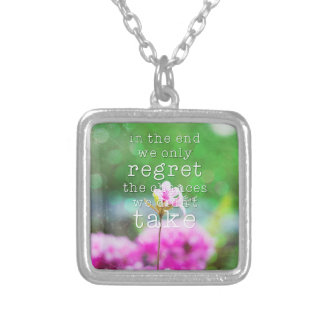 In the end... square pendant necklace