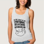 In the event of Emotional Breakdown Cat top T-shirts