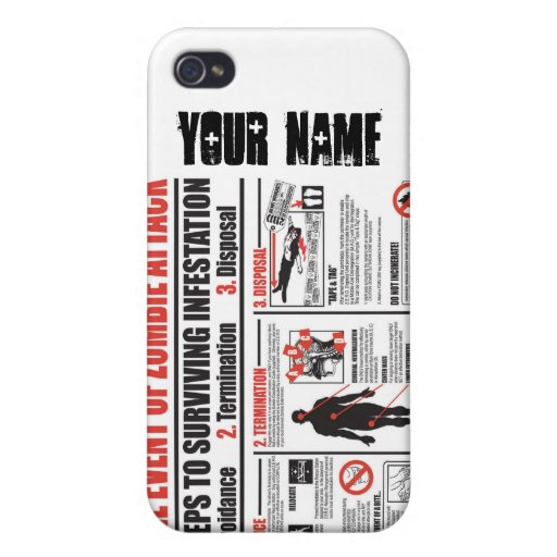In The Event of Zombie Attack: iphone 4/4S case