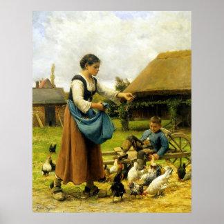 In the Farmyard ~ Julien Dupré ~ Fine Art Canvas Posters