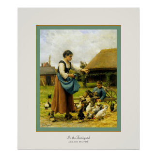 In the Farmyard ~ Julien Dupré ~ Fine Art Print