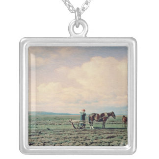 In the Field, 1872 Silver Plated Necklace