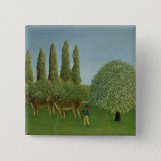 In the Fields, 1910 15 Cm Square Badge