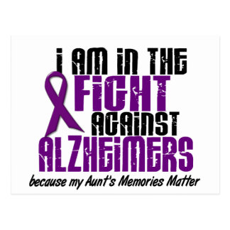 In The Fight Against Alzheimer's Disease AUNT Postcard