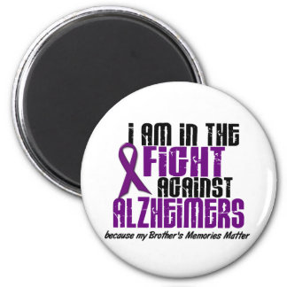 In The Fight Against Alzheimer's Disease BROTHER 6 Cm Round Magnet