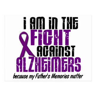 In The Fight Against Alzheimer's Disease FATHER Postcard