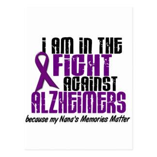 In The Fight Against Alzheimer's Disease NANA Postcard