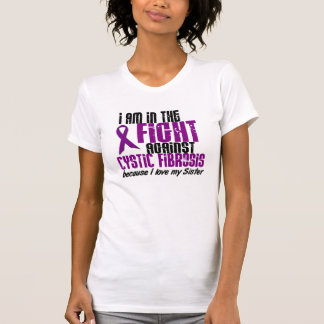 In The Fight Against Cystic Fibrosis DISTRESSED Shirt